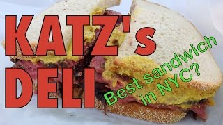 Download Katz's Deli: Eating Pastrami and Corned Beef Meat Sandwiches in New York City Video
