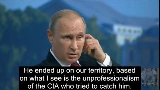 Download Putin on Edward Snowden; takes a dig on America Video