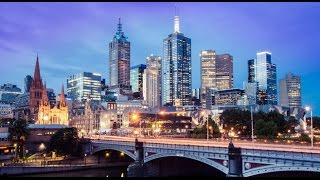 Download Melbourne, Australia, City center in 4K Video