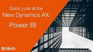 Download The New Dynamics AX and Power BI Video