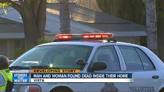 Download Two people found dead inside Vista home in suspected homicide Video