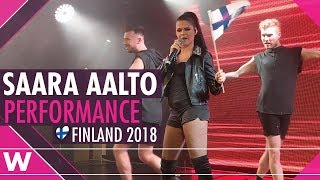 Download Saara Aalto ″Monsters″ (Finland 2018) LIVE @ Eurovision Wonderland concert Video