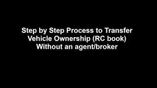 Download Car Ownership Transfer - RC book Transfer without an agent Video