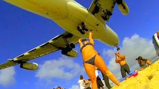 Download Unique St. Maarten - Best Air France A340 Landings from different spots Video
