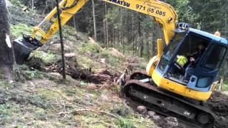 Download komatsu pc 78 us building forest road Video