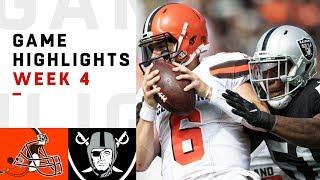 Download Browns vs. Raiders Week 4 Highlights | NFL 2018 Video