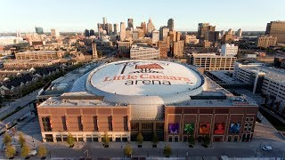 Download Little Caesar's Arena - Aerial time lapse - Beginning to end of construction Video