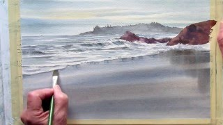 Download painting wet sand in watercolor Video