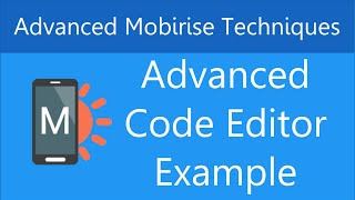 Download Advanced Example of Using the Code Editor in Mobirise Video