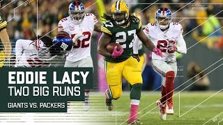 Download Two Spectacular Eddie Lacy Runs & Davante Adams' TD Catch! | Giants vs. Packers | NFL Video