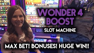Download EPIC FULL SCREEN WIN on the New Wonder 4 Boost! Rhino Charge Slot Machine!!! Video