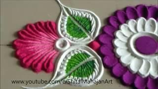 Download Super Easy, Small and Quick Border Rangoli Design Creative Rangoli by Shital Mahajan Video