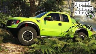 Download ★ GTA 5 - EPIC Ford Raptor Mod! 4x4 Off-Roading, Mudding, & Ramps Mod Showcase! (GTA V PC Mods) Video