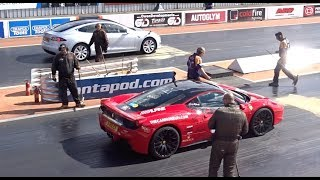 Download Tesla S P100D Beating A Ferrari 458 In A 1/4 Mile Drag Race Video