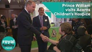 Download Prince William visits Acorns Children's Hospice in Birmingham Video