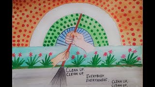 Download Drawing on swachh bharat ll clean India drawing ll Swachh bharat abhiyan drawing Video