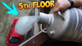 Download POURING 5 GALLONS OF LIQUID NITROGEN ON MY CAR FROM FIFTH FLOOR!!! Video