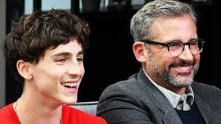 Download Timothée Chalamet Felt Protected Acting with Steve Carell in 'Beautiful Boy' Video