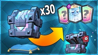Download OPENING x30 NEW LEGENDARY KINGS CHEST & NEW ROYAL GHOST CARD | Clash Royale MASS KINGS CHEST OPENING Video