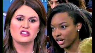 Download Sarah Sanders tries to 'SHAME' reporter when asked on Trump's Confusing Leadership, she Fails Video