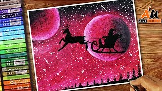 Download How to draw Santa Claus Flying on his Sleigh | How to Draw SANTA'S SLEIGH Step by Step for Kids Video