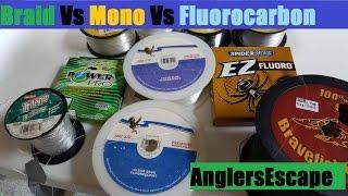 Download Braid Vs Mono Vs Fluorocarbon - Best Fishing Line Type - Full Comparison / Review Video