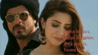 Download Zaalima | Raees | VIDEO LYRICS | Shah Rukh Khan & Mahira Khan | Video