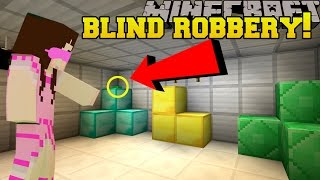 Download Minecraft: ROBBING A BANK BLINDFOLDED!!! - Mystery Button - Custom Map Video