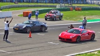 Download Ferrari 488 GTB -vs- Porsche 911 Turbo S -vs- Nissan GT-R Video