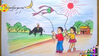 Download Vẽ tranh Mùa hè của bé/How to Draw Baby with Summer Video