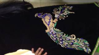 Download beautifull Hand embroidered peacock design on punjabi suit Video