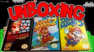 Download UNBOXING Super Mario Bros. 1,2, & 3   NES Retro Games Video