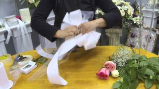 Download How to Make Pew Bows with Tulle, Ribbon and Fresh Flowers Video