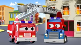 Download Carl Transform and the Fire Truck in Car City | Trucks cartoon for kids Video