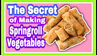 Download The Secret of Springroll Vegetables | Lumpiang Gulay Video
