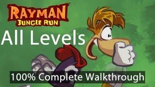 Download Rayman Jungle Run - All Levels 100% Complete Walkthrough w/ Bonus Secret Levels | WikiGameGuides Video