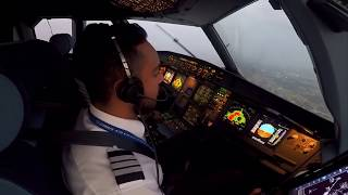 Download Landing in Mexico City with a little storm over the airport Video