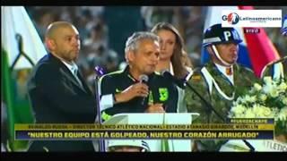 Download Palabras de Reinaldo Rueda en Homenaje a Victimas Chapecoense En Medellin Video