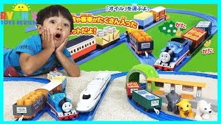 Download THOMAS AND FRIENDS Toy Trains for kids Tomy Takara Japanese Thomas Tomica Shinkansen Bullet Train Video