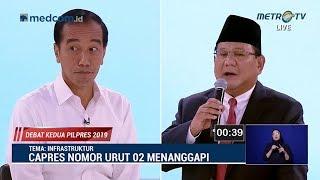 Download Debat Kedua Capres Part 2, Serangan Balik Jokowi ke Prabowo Soal Infrastruktur Video