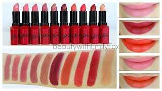 Download Rimmel Lasting Finish by Kate Moss Lipstick + Lip Swatches Video