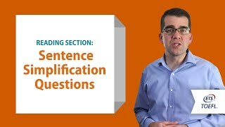 Download TOEFL® Reading Questions - Sentence Simplification │Inside the TOEFL® Test Video