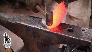Download Forged iron skillet - blacksmithing Video