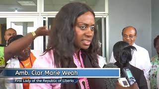 Download Liberia's First Lady Clar Weah Visits JFK Maternity Center on Good Friday Video