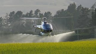 Download modern farming | agricultural helicopter Video