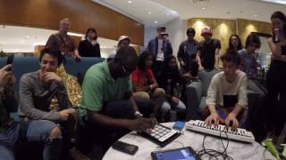 Download Jacob Collier and Larnell Lewis jamming at the groundup music fest Video
