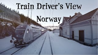 Download Train Driver's View: Back over the mountain (Ål - Voss) Video