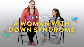 Download Kids Meet a Woman with Down Syndrome | Kids Meet | HiHo Kids Video