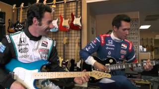 Download Simon Pagenaud learns some smoking hot riffs from rookie SPM driver Mikhail Aleshin. Video