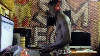Download How Shatta Wale records in his studio Video